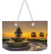 Sunrise Over Pinapple Fountain Weekender Tote Bag