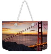 Sunrise Over The Golden Gate Bridge Weekender Tote Bag