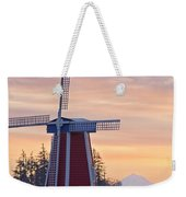 Sunrise Over Wooden Shoe Tulip Farm And Weekender Tote Bag