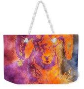 Sunrise Ram Water Color Weekender Tote Bag