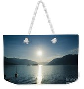 Sunrise Reflected Over An Alpine Lake Weekender Tote Bag