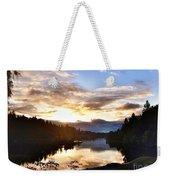 Sunrise River Mirror Weekender Tote Bag
