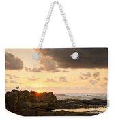 Sunrise Seagull On Rocks Weekender Tote Bag