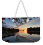 Sunrise Seat - Millinocket Lake Weekender Tote Bag