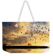 Birds Awaken At Sunrise Weekender Tote Bag