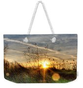 Sunrise Through Grass Weekender Tote Bag
