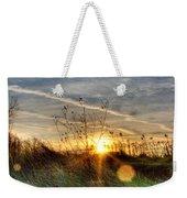 Sunrise Through Grass Weekender Tote Bag