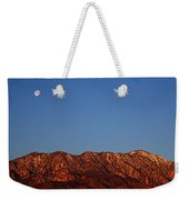 Sunrise With Moon Setting On San Jacinto Mountains Weekender Tote Bag