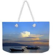 Sunrise With Outrigger Boats Weekender Tote Bag