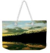 Sunset 1 Rainy Lake Weekender Tote Bag