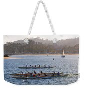 Sunset Activity At The Harbor Weekender Tote Bag
