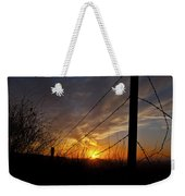 Sunset Along The Fence Yellow Red Orange Fine Art Photography Print  Weekender Tote Bag