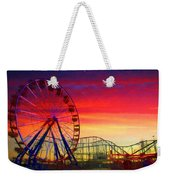 Sunset And A Sliver Moon Weekender Tote Bag