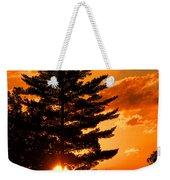 Sunset And Pine Tree  Weekender Tote Bag