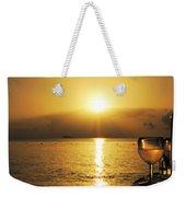 Sunset And Wine Weekender Tote Bag