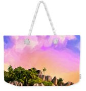Sunset At Anse Source Argent Seychelles Weekender Tote Bag
