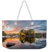 Sunset At Cambridge Reservoir Weekender Tote Bag