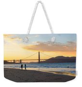Sunset At Crissy Field With Golden Gate Bridge San Francisco Ca 5 Weekender Tote Bag