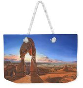 Sunset At Delicate Arch Utah Weekender Tote Bag