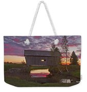 Sunset At Foster Bridge Weekender Tote Bag