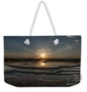 Sunset At Great Fountain Geyser - Yellowstone Weekender Tote Bag