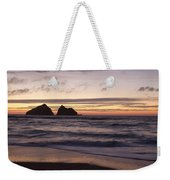 Sunset At Holywell Bay Weekender Tote Bag