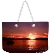Sunset At Lake Of The Woods Weekender Tote Bag