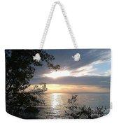 Sunset At Lake Winnipeg Weekender Tote Bag
