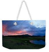 Sunset At Locke's Pond - Big Horn Mountains - Buffalo Wyoming Weekender Tote Bag