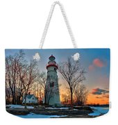 Sunset At Marblehead Lighthouse Weekender Tote Bag