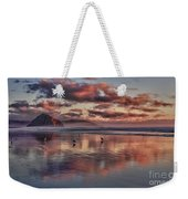 Sunset At Morro Strand Weekender Tote Bag