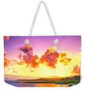 Sunset At Oneloa Beach Maui Weekender Tote Bag