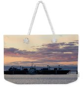 Sunset At Port Angeles Weekender Tote Bag