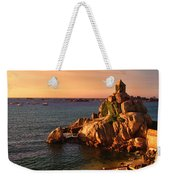 Sunset At Port Blanc - Cote De Granit Rose Weekender Tote Bag