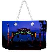 Sunset At Santa Monica Beach Pier Fine Art Photography Print Weekender Tote Bag