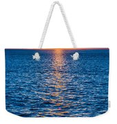 Sunset At Sea With Multiple Color Prizm Weekender Tote Bag
