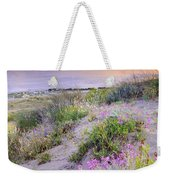 Sunset At The Beach  Flowers On The Sand Weekender Tote Bag