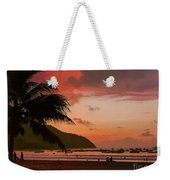Sunset At The Beach - Puerto Lopez - Ecuador Weekender Tote Bag