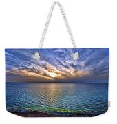 Sunset At The Cliff Beach Weekender Tote Bag by Ron Shoshani