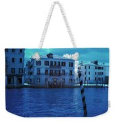 Sunset At The Hotel Canal Grande Venice Italy Near Infrared Blue Weekender Tote Bag