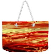 Sunset At The Red River Abstract Weekender Tote Bag