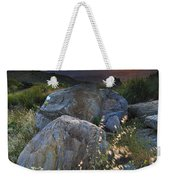 Sunset At The Windy Mountains Weekender Tote Bag