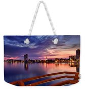 Sunset Balcony Of The West Palm Beach Skyline Weekender Tote Bag