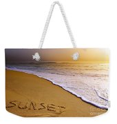 Sunset Beach Weekender Tote Bag by Carlos Caetano