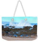 Sunset Beach Crashing Wave - Oahu Hawaii Weekender Tote Bag