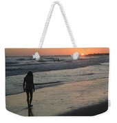 Sunset Beach Silhouette Weekender Tote Bag