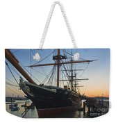 Sunset Behind Hms Warrior Weekender Tote Bag