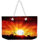 Sunset Birds Weekender Tote Bag