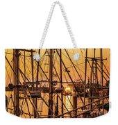 Sunset Boat Masts At Dock Morro Bay Marina Fine Art Photography Print Sale Weekender Tote Bag