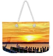 Sunset By The Dock Weekender Tote Bag